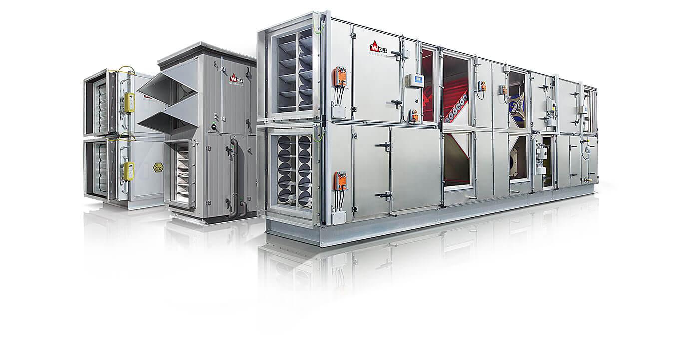 Lüftungstechnik modulare Bauweise / Lüftungsgeräte