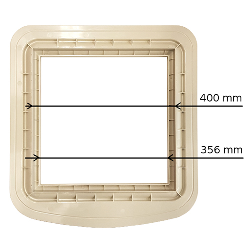 Adapter aus Kunststoff für Dachklimaanlagen