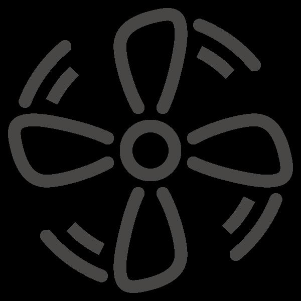 Ambient Ausstattung Heizung Luftschleier Icon