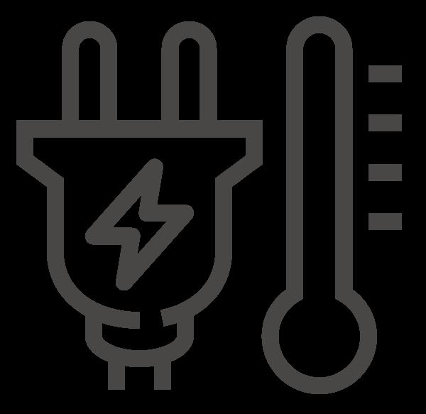 Elektrische Beheizung Luftschleier Icon