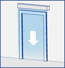 Luftschleier horizontal Schiebetüren oder Flügeltüren
