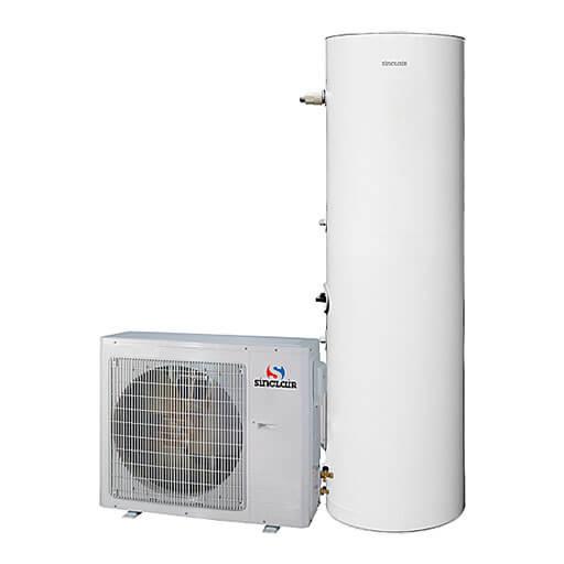 Set kombinierbare Außeneinheit und Warmwasserbereiter