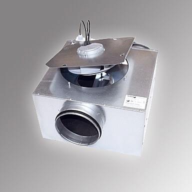 Ventilatoren mit runden Anschlüssen