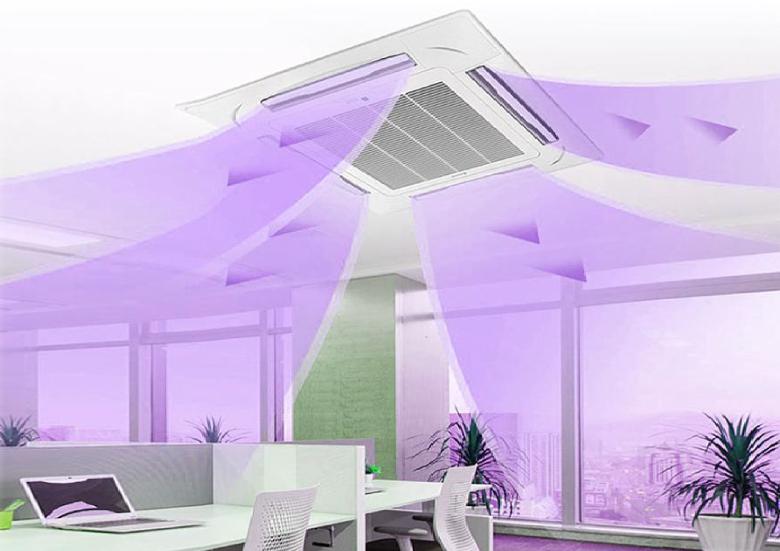 UV-Nachrüstung zur Luftreinigung über Deckenkassetten oder Fan Coil-Geräte der Klimaanlagen