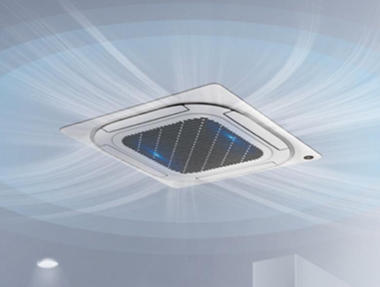 UV-Nachrüst-Set für Klimaanlagen Deckenkassetten und Fan Coil-Geräte - Luft-Sterilisation, antivirale Raumluft