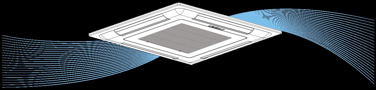 Deckenkassette Illustration für UV-Luftreinigung