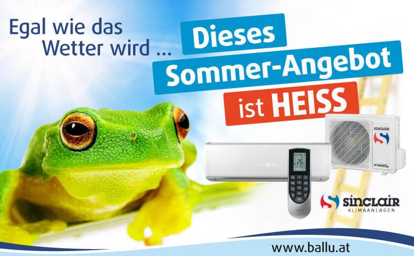 Frosch und Klimaanlage: Sommer 2020 Aktion, Angebote