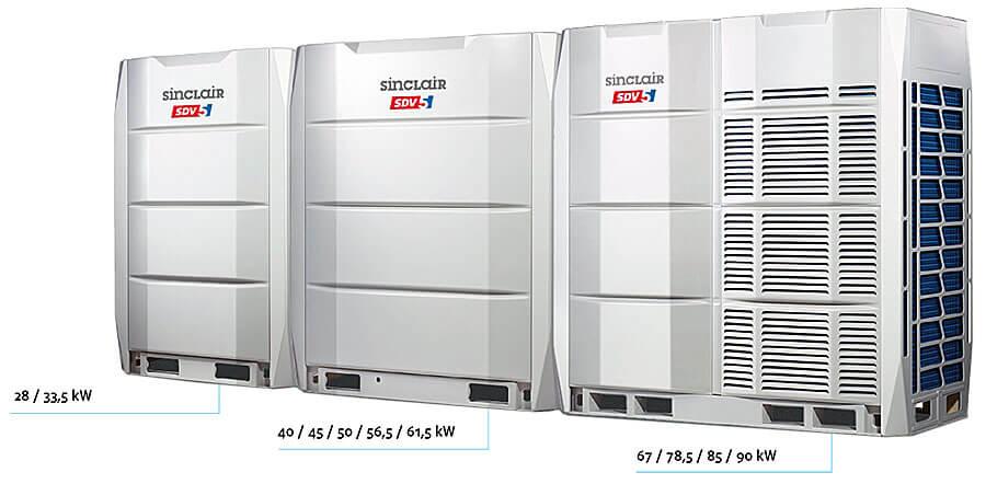 Kommerzielle Klimaanlagen Großsysteme Außeneinheiten bis 270 kW