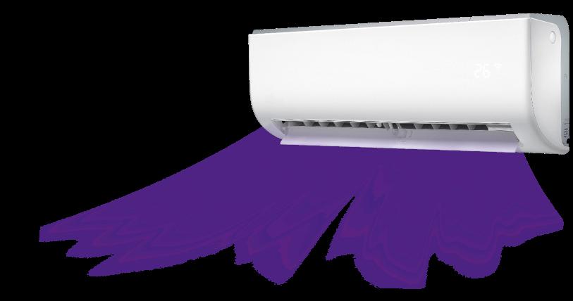 Split-Innengerät mit UV-Technologie zur Raumluftreinigung