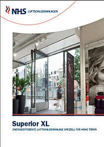 Ballu Türluftschleier NHS Superior XL für große Türen und Industrietore