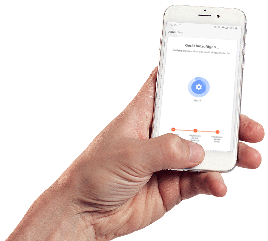 App für die WiFi-Ansteuerung einer Luftsterilisation für Klimaanlagen