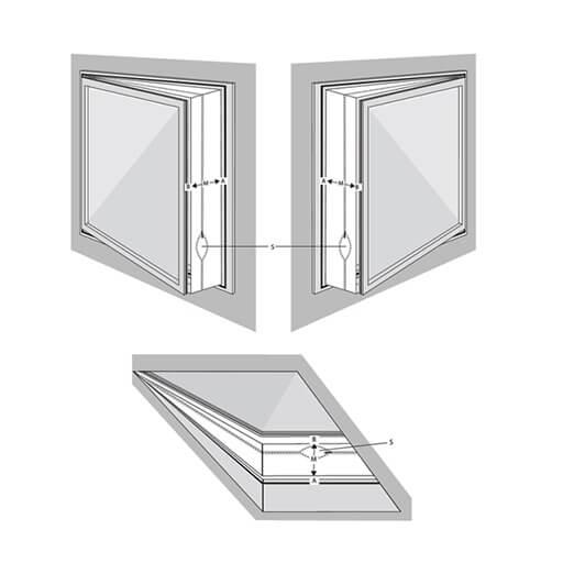 Einbauskizze Einbau Fensterset für mobile Klimaanlagen