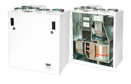 Lüftungsgeräte Lüftungstechnik Wohnraumlüftung mit Rotations_Wärmetauscher