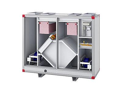 Lüftungstechnik – Lüftungsgeräte mit integrierter reversibler Wärmepumpe