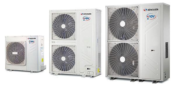Kommerzielle Klimaanlagen Großsysteme Außeneinheiten für bis zu 15 Inneneinheiten