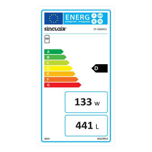 Energie-Label Wasserspeicher Pufferspeicher ST-500MCS