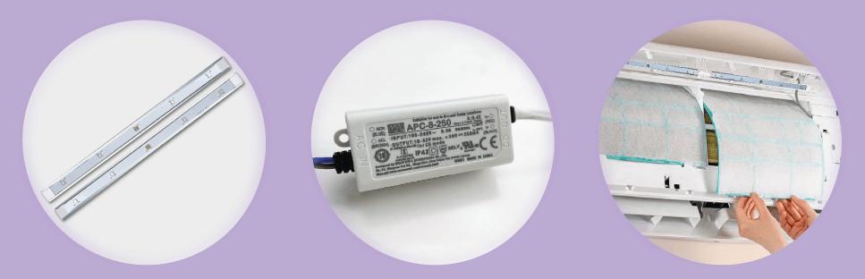 UV-Nachrüstset für Klimaanlagen und virenfreier Raumluft